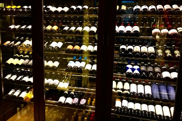 店内ワインセラー